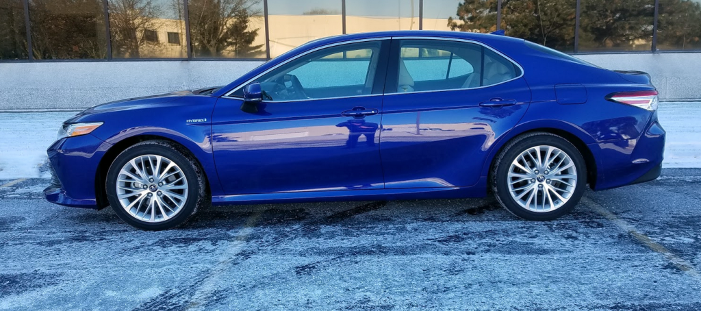2018 Camry in Blue Crush