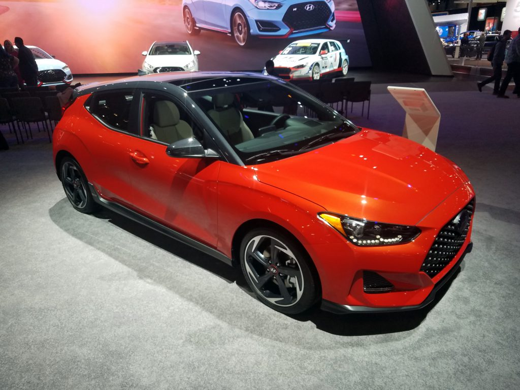 2019 Hyundai Veloster in Sunset Orange