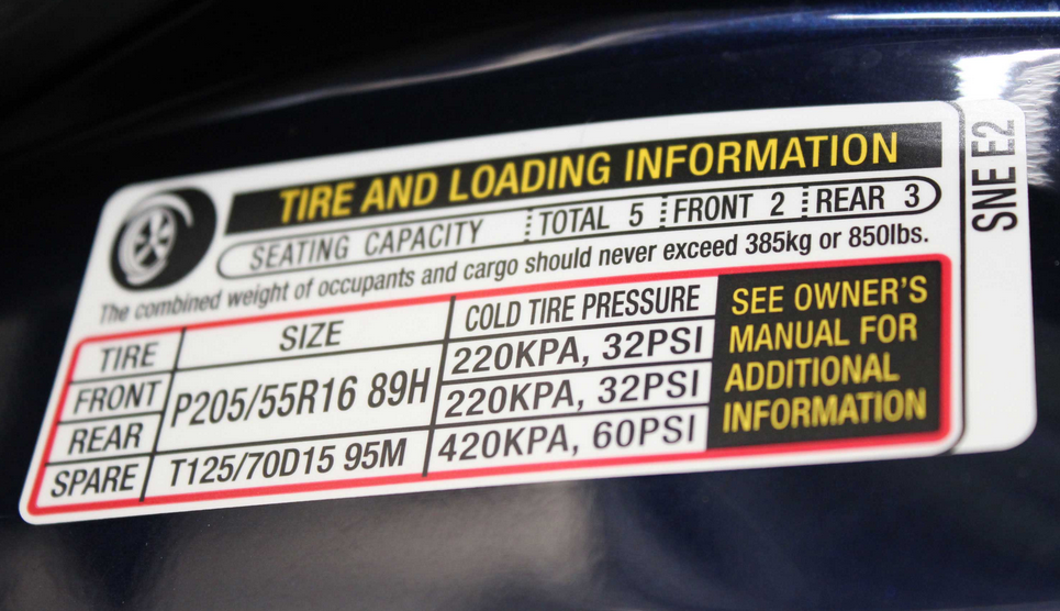 Door Jamb Tire Sticker