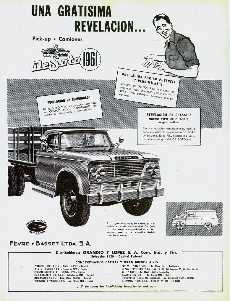 1961 DeSoto Truck Ad