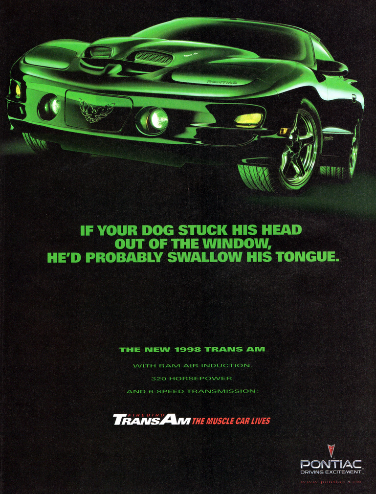 1998 Pontaic Firebird Ad