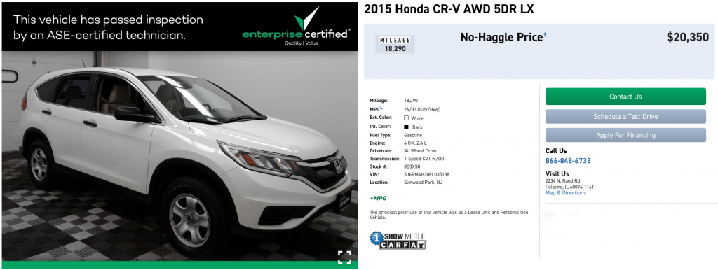 Honda CR-V for $300 a month