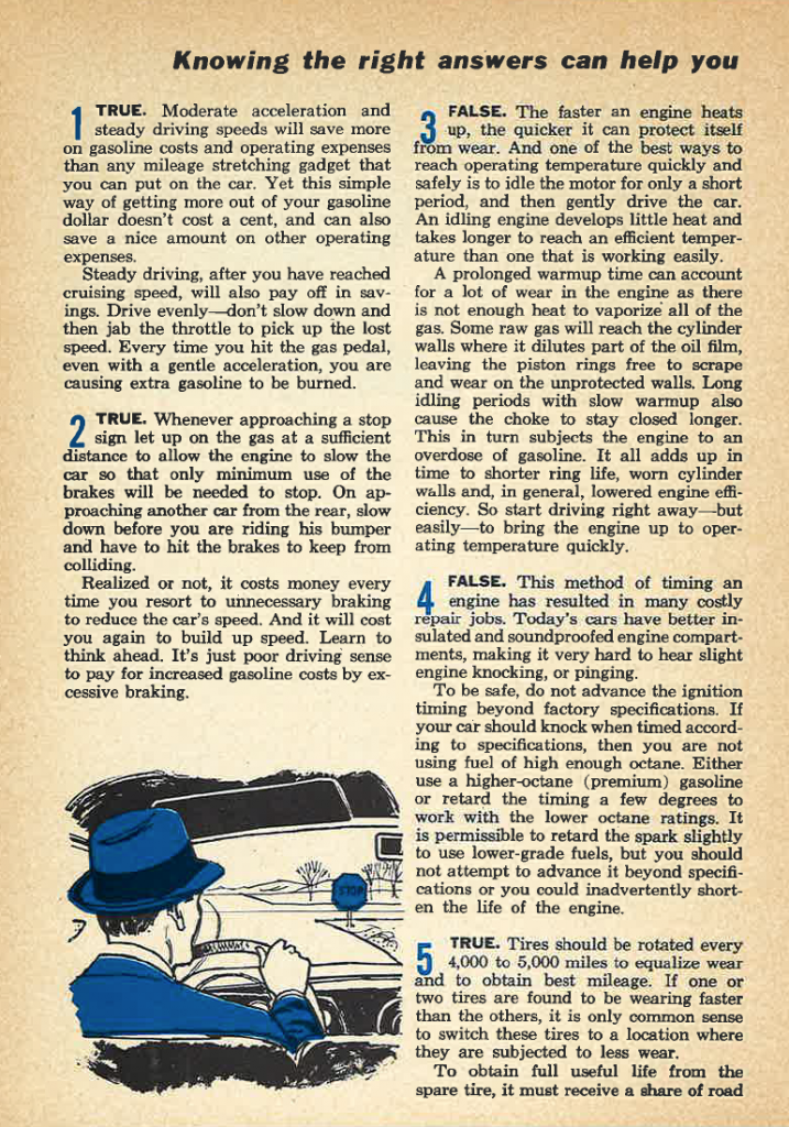 Historically Helpful: A Car-Care Quiz From 1959 | The Daily