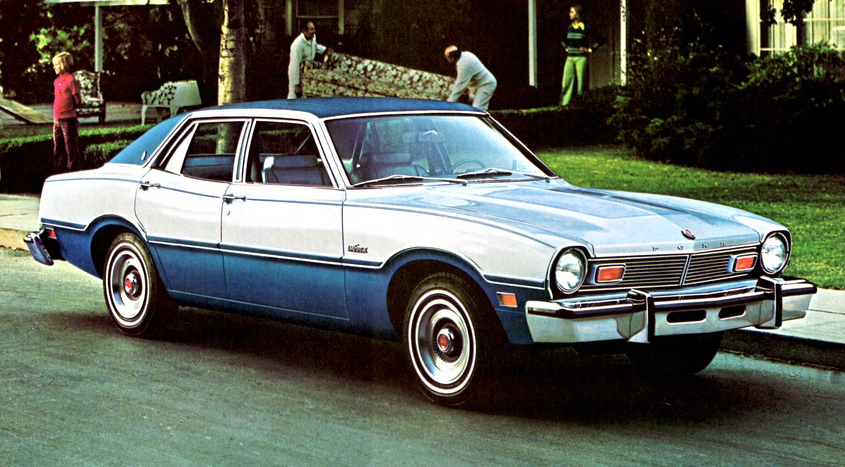 1976 Ford Maverick with Luxury Decor Group and Tu-Tone paint.