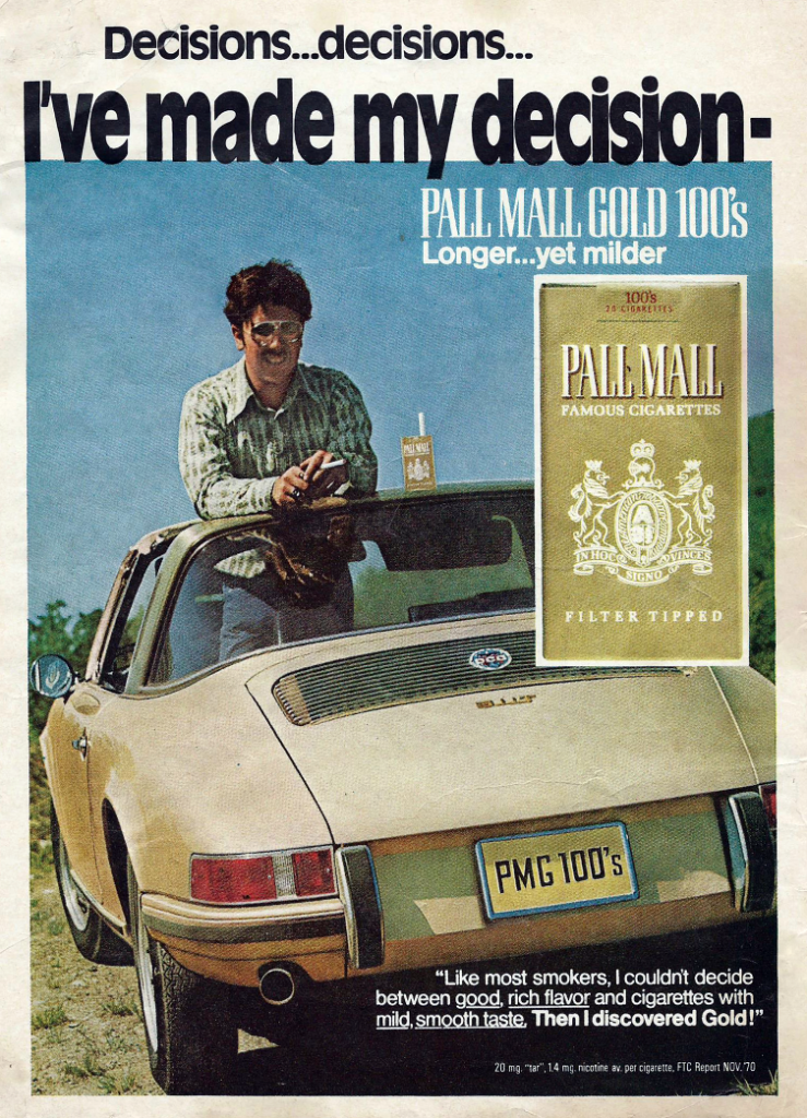 Pall Mall Cigarettes Ad