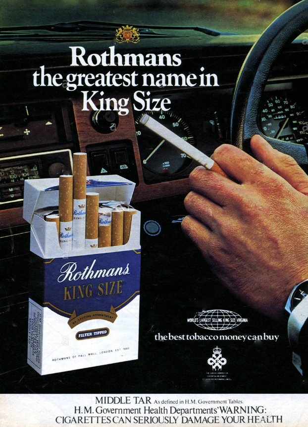 Rothmans Cigarette Ad