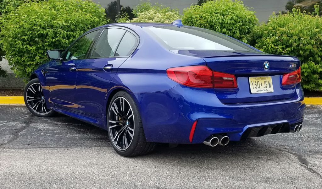 2018 BMW M5 in Marina Bay Blue
