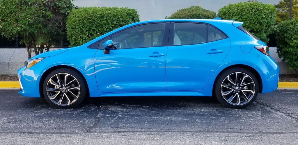 2019 Corolla in Blue Flame