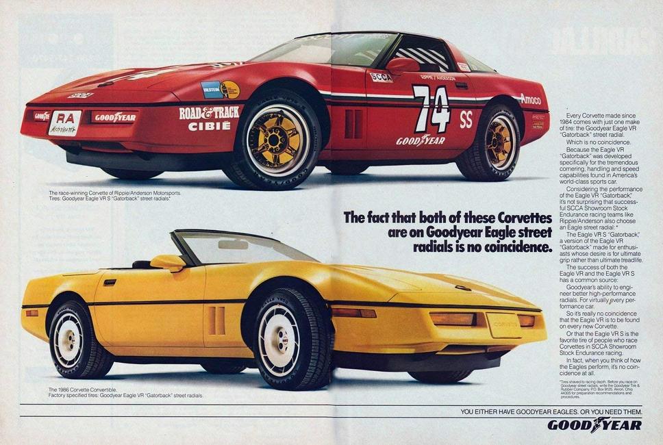 1986 Goodyear SCCA Ad