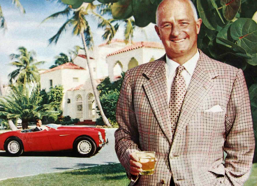 Cars in Liquor Ads, Donald Healey