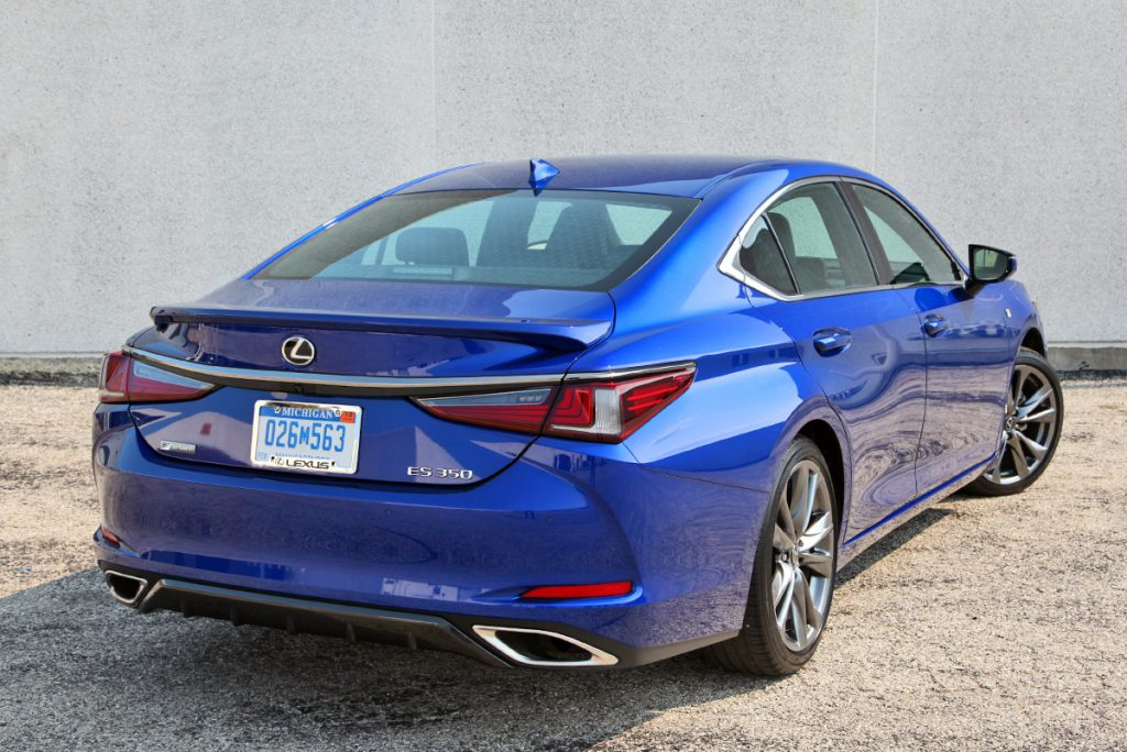 2019 Lexus ES 350 F Sport in Ultrasonic Blue Mica, a $595 color option