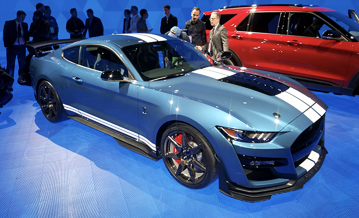 2019 Detroit Auto Show 2020 Ford Mustang Shelby Gt500 The