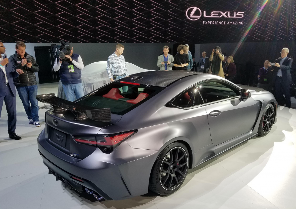 2019 detroit auto show  2020 lexus rc f and rc f track edition