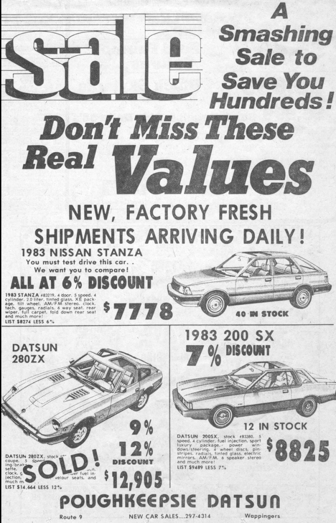 1983 Datsun Dealer Ad