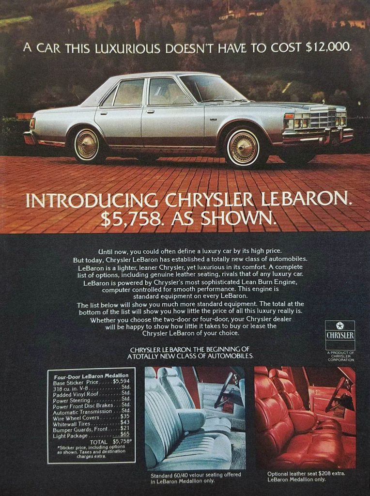 1977 Chrysler Ad