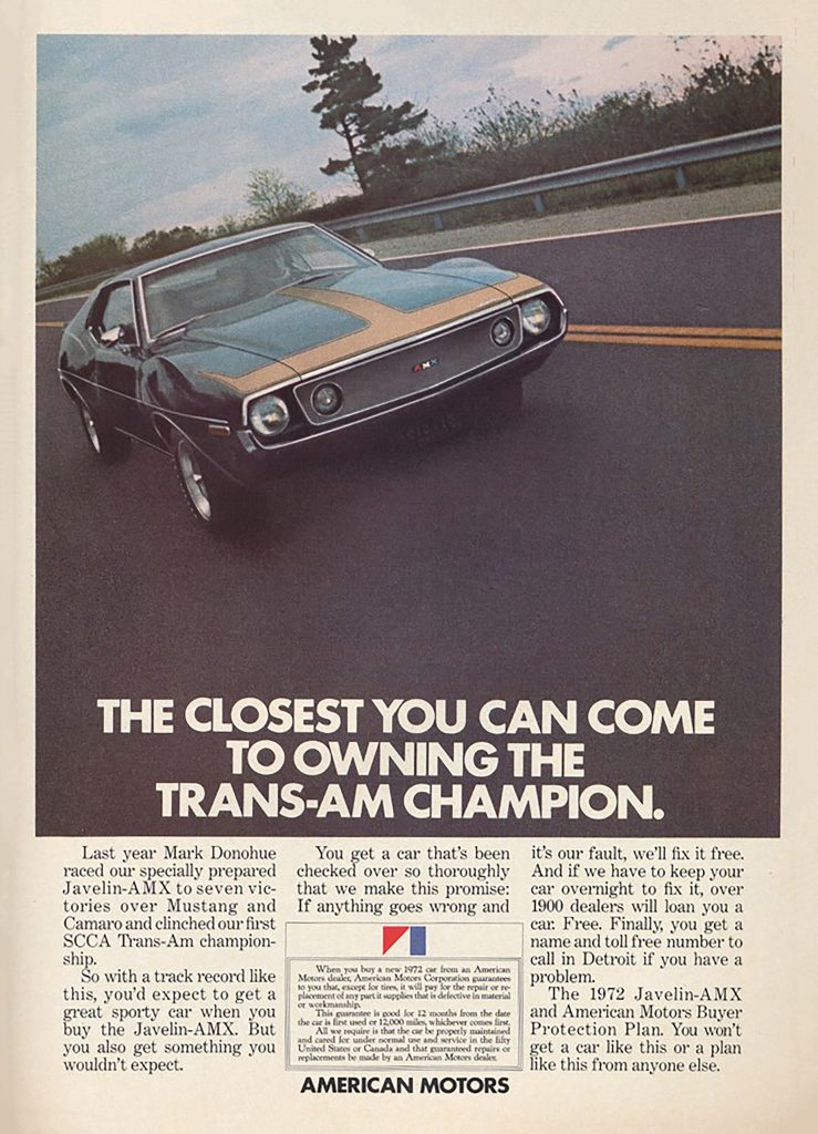 1972 AMC Javelin Ad, Mark Donohue