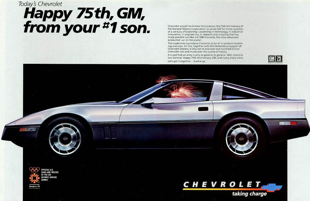 1984 Chevrolet Corvette Ad