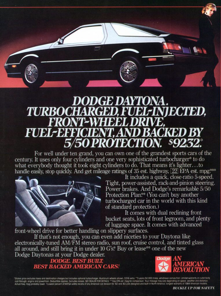 1984 Dodge Daytona Ads