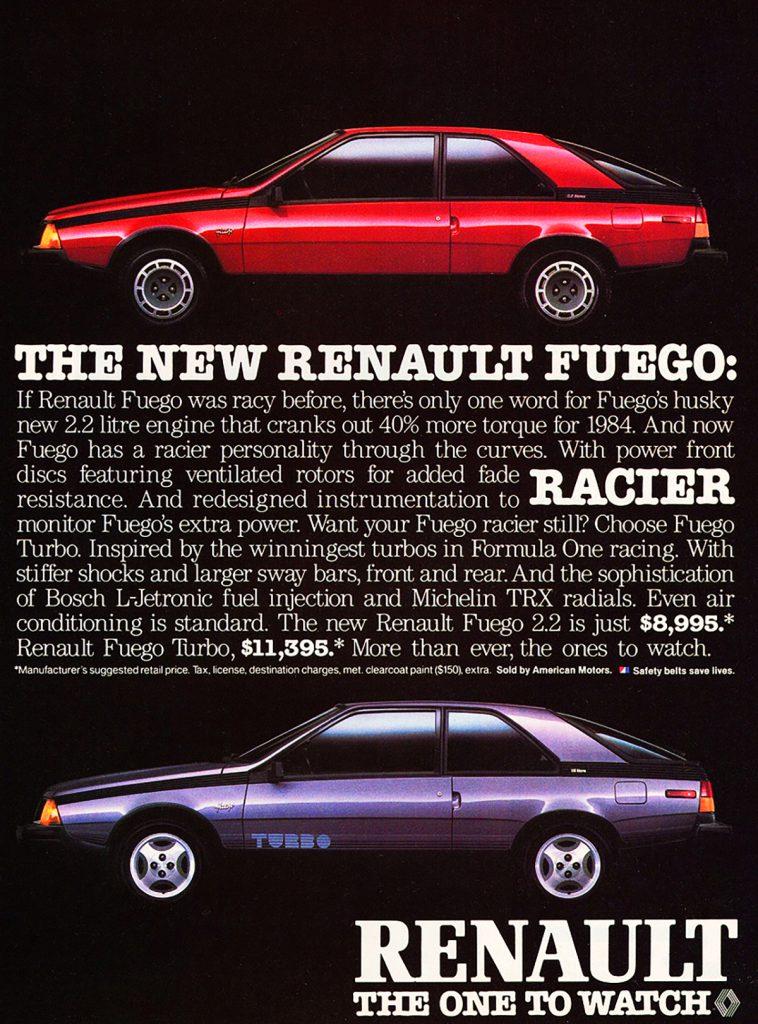 1984 Renault Fuego Ad