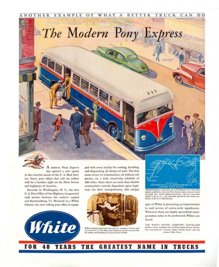 1941 White Bus Ad