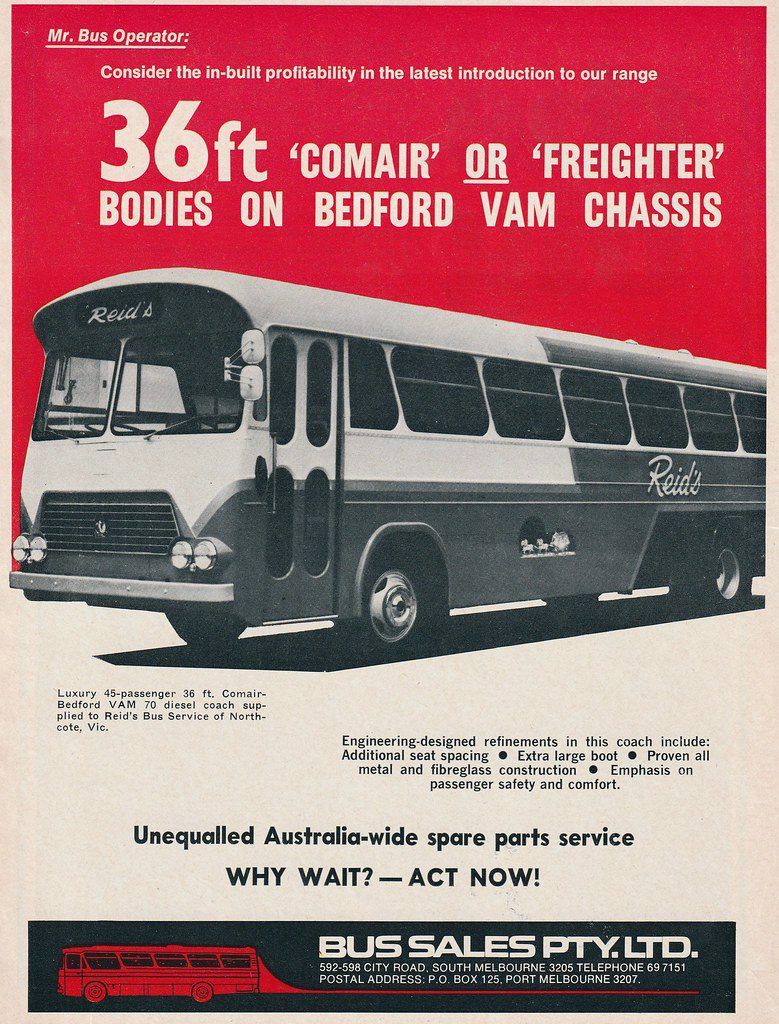 1971 Bedford Ad, Classic Bus Ads