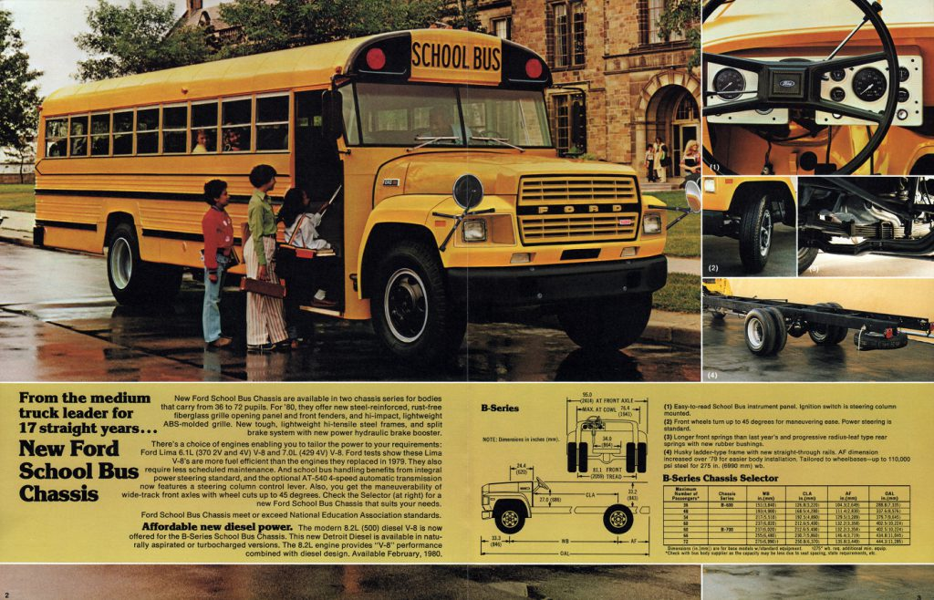 1980 Ford Bus Ad, Classic Bus Ads