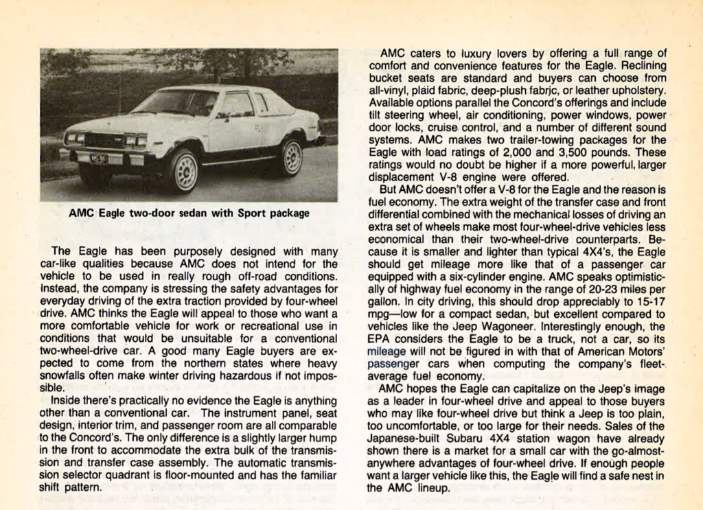 1980 AMC Eagle Review