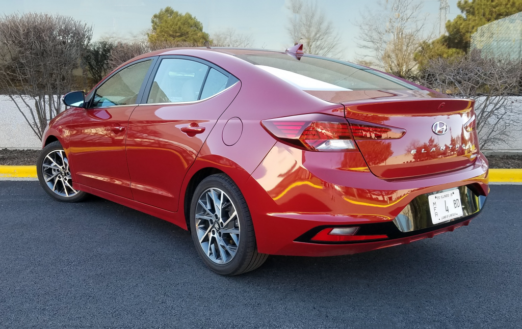 Red 2019 Hyundai Elantra Limited