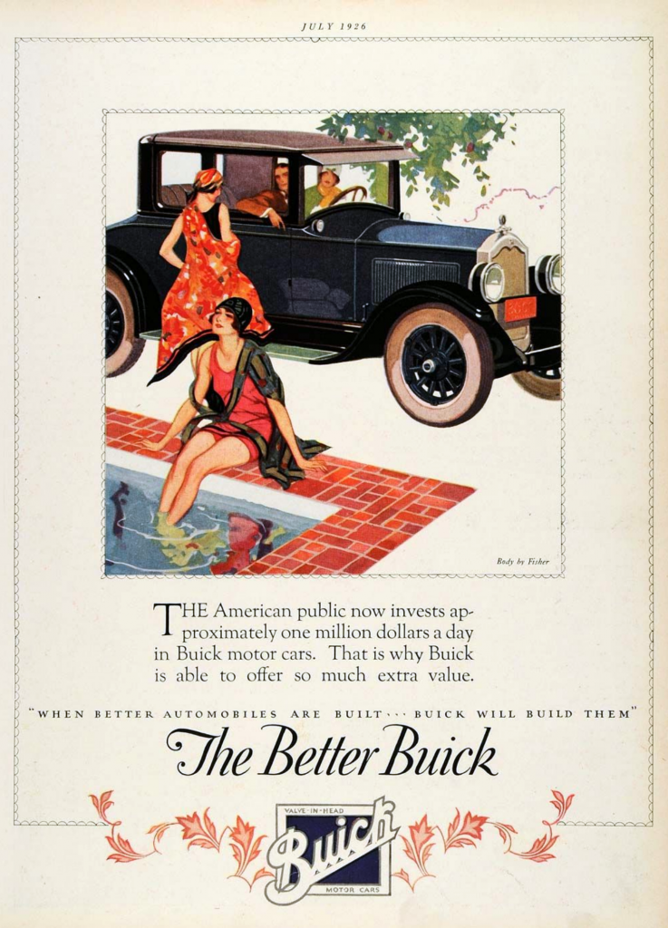 1926 Buick Ad, Classic Buick Ads