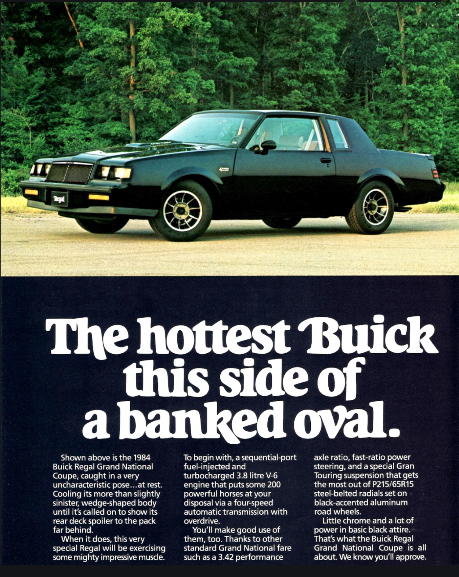 Buick Grand National Ad
