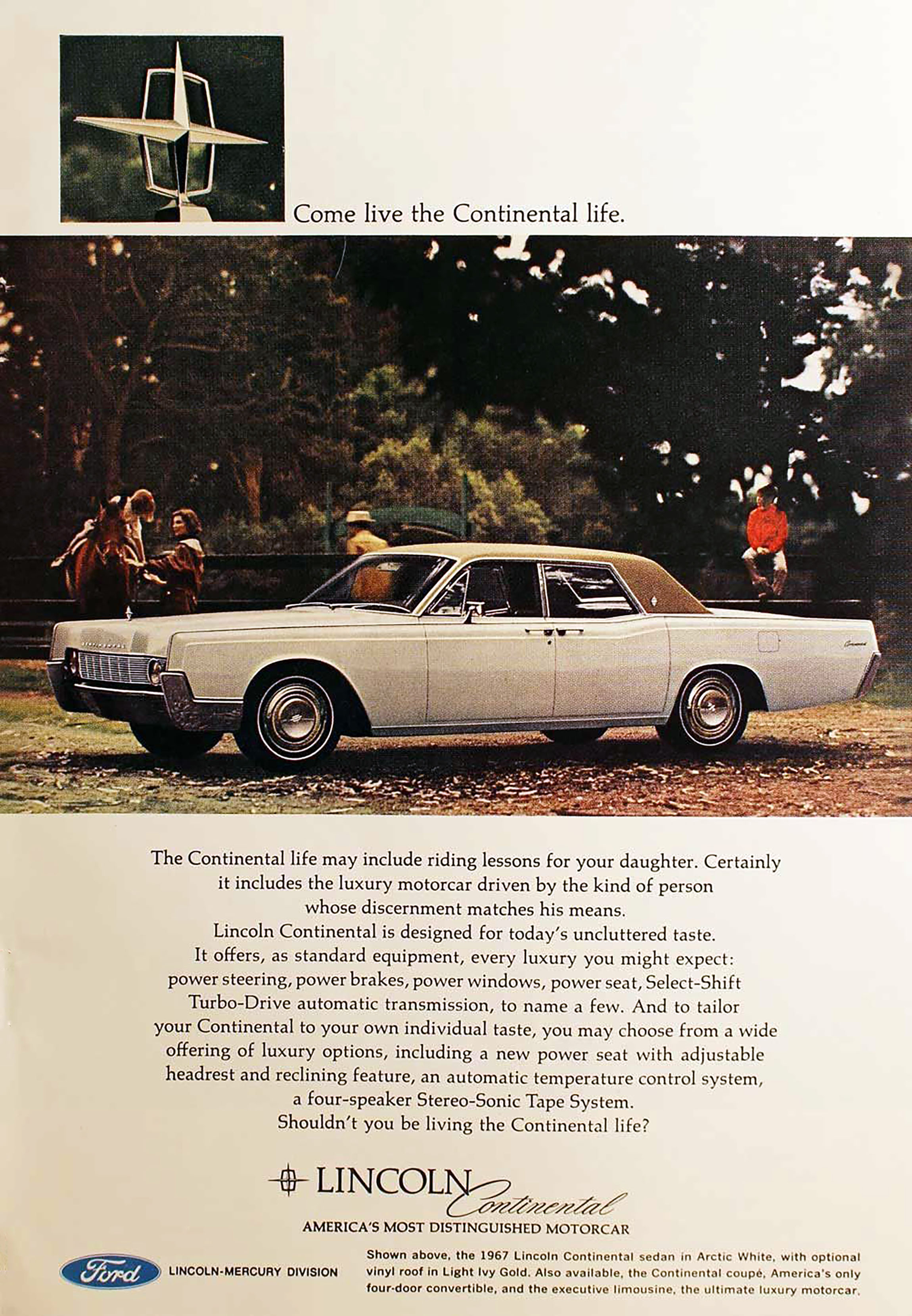 1967 Lincoln Continental Ad
