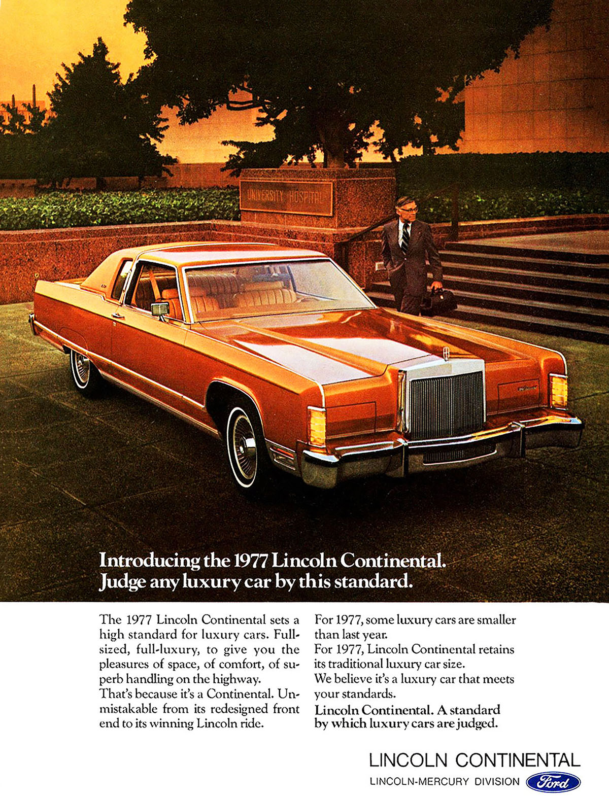 1977 Lincoln Continental Ad, Classic Lincoln Ads
