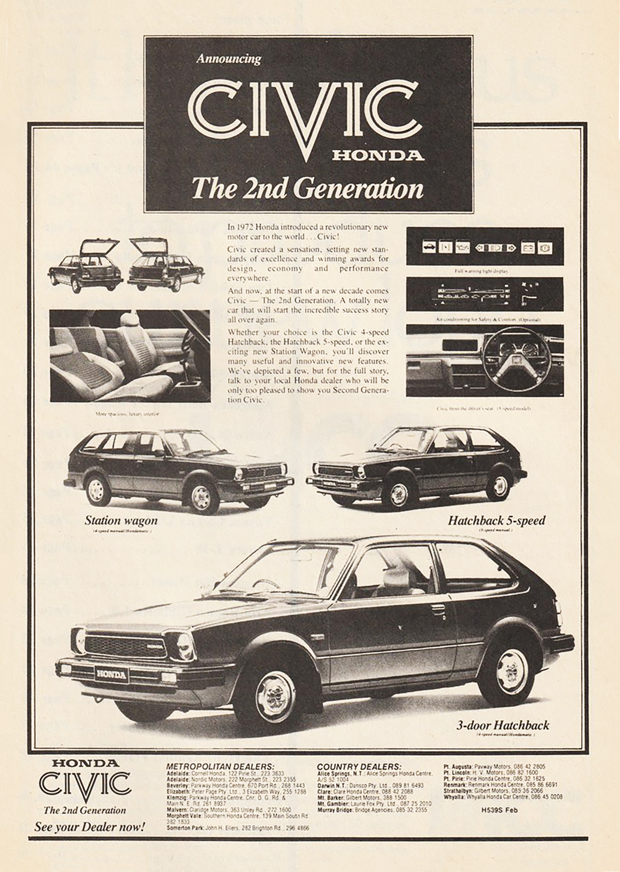 Second-Generation Civic, Classic Honda Ads