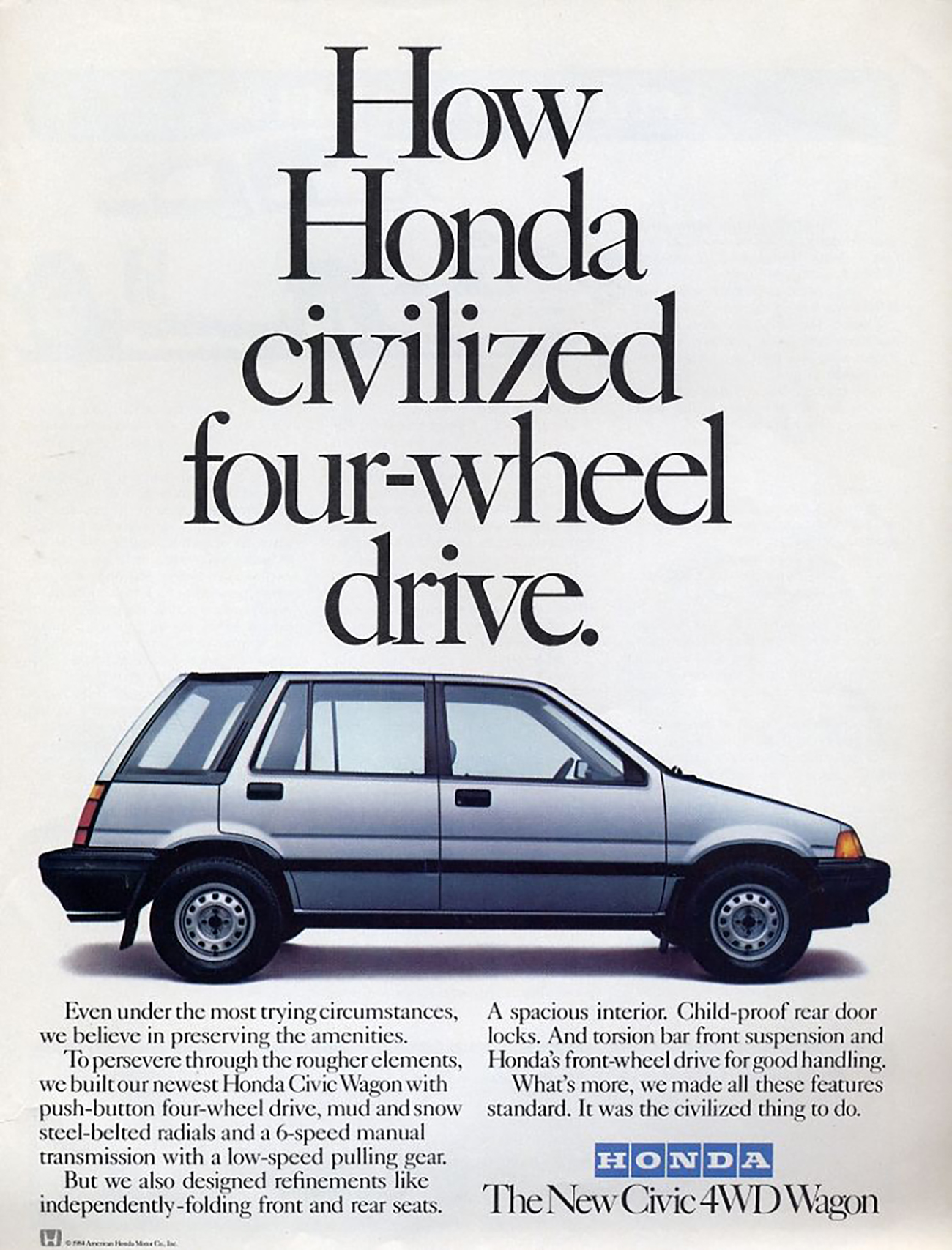 1984 Honda Civic 4WD Wagon, Real-Time 4WD