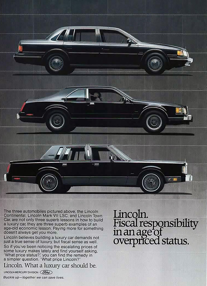 1988 Lincoln Full Line Ad