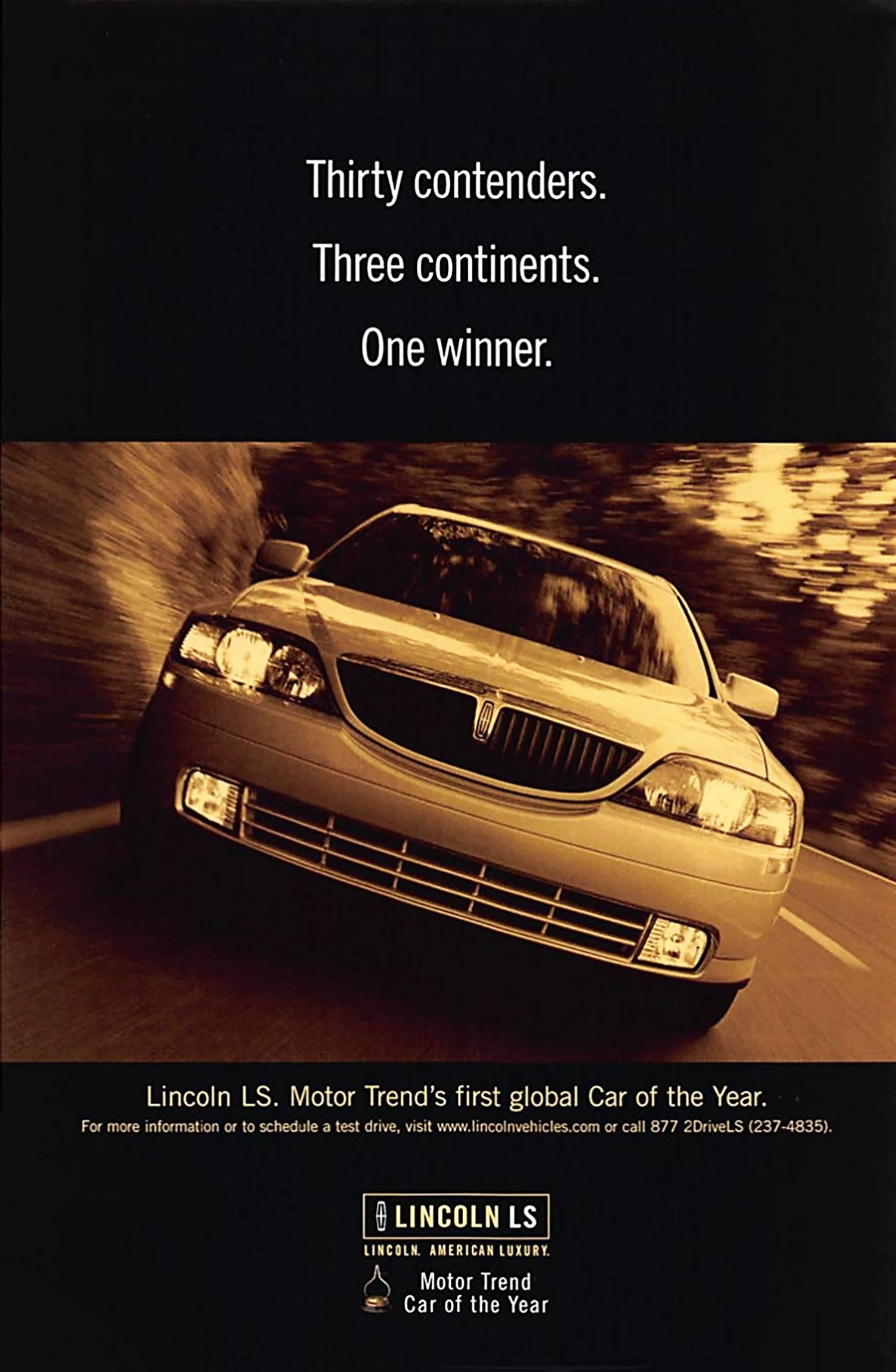 2000 Lincoln LS Ad, Classic Lincoln Ads