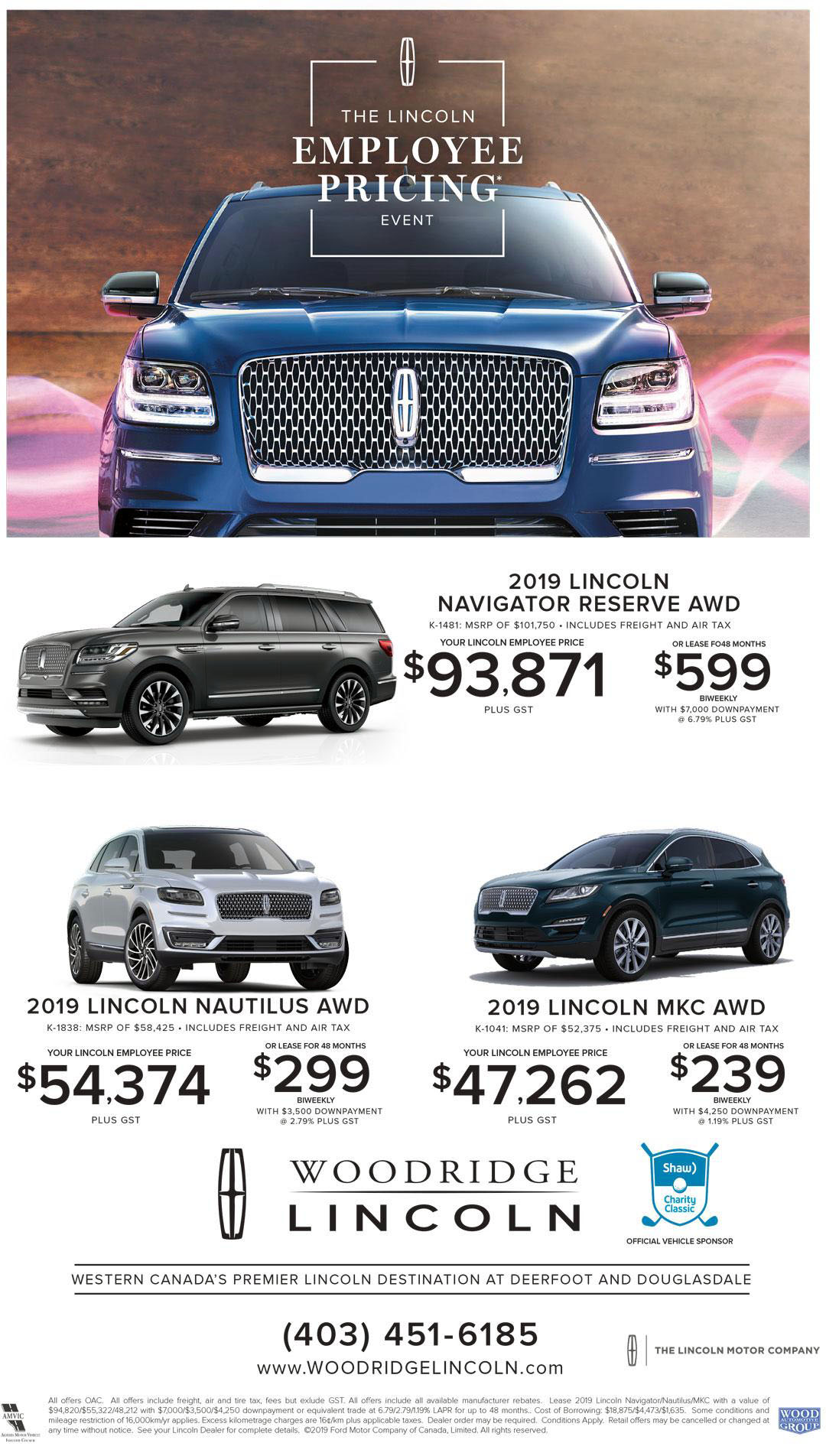2019 Lincoln Sale Ad