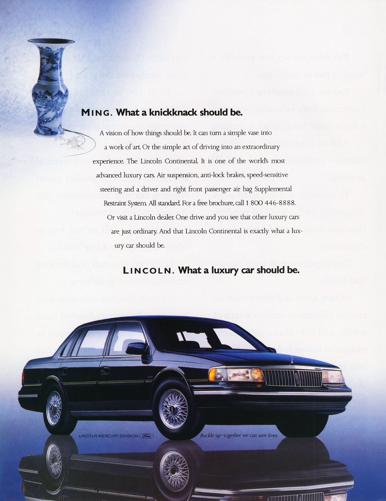1990 Lincoln Continental Ad