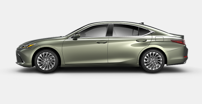 2020 Lexus ES 350 in Sunlit Green.