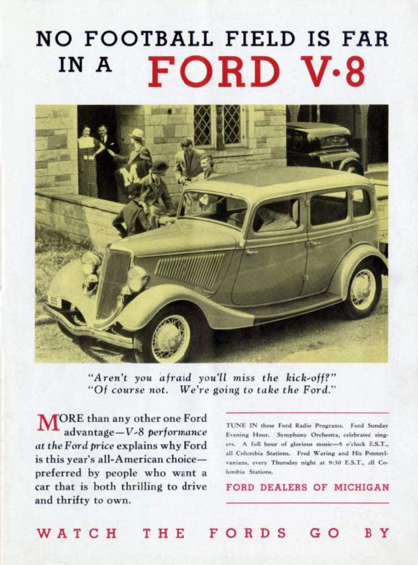 1934 Ford Ad, Football Auto Ads