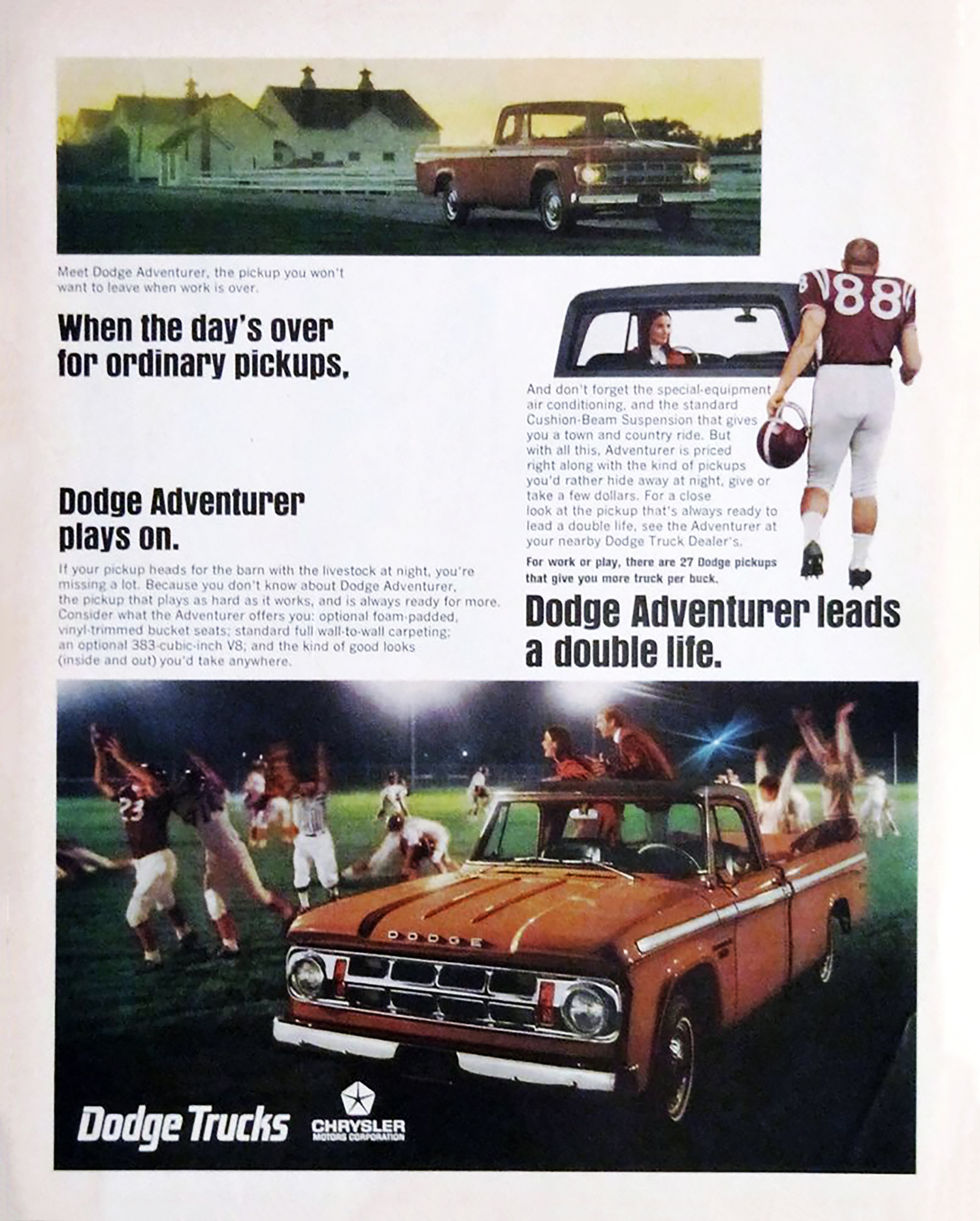1968 Dodge Ad, Football