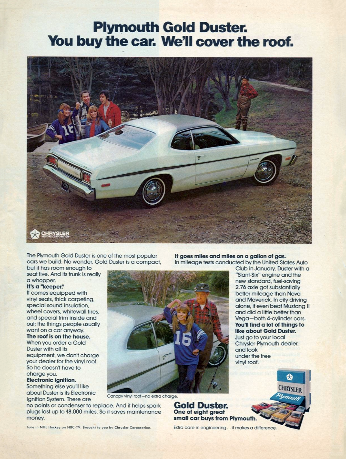 1974 Plymouth Duster Ad, Gold Duster