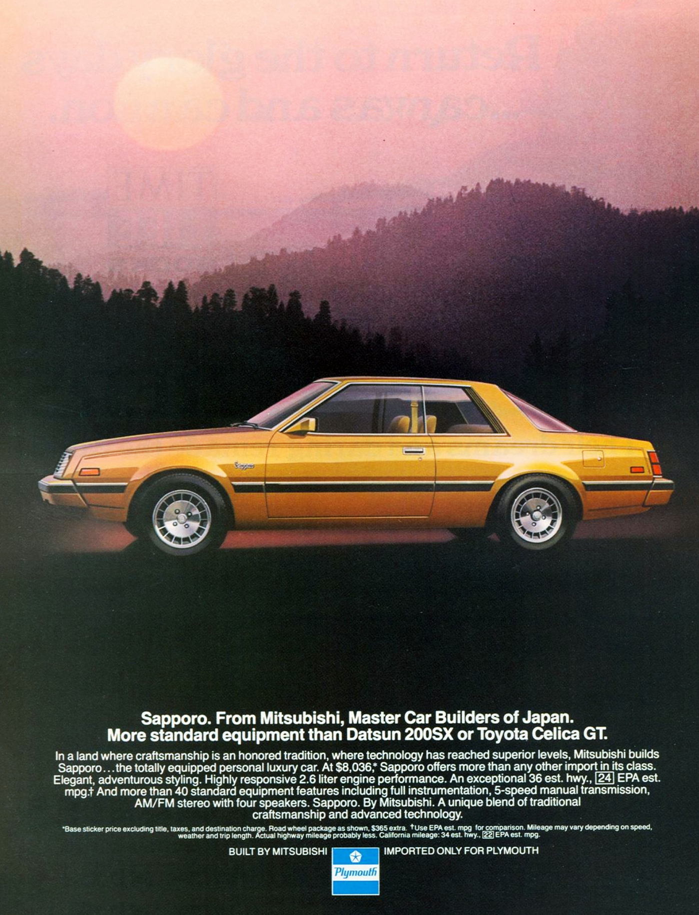 1982 Plymouth Sapporo Ad