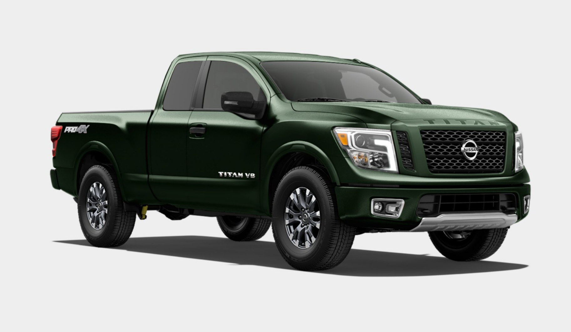 2019 Nissan Titan in Midnight Pine Metallic