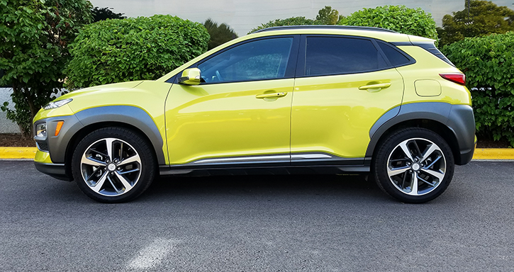 Hyundai Kona in Lime Twist
