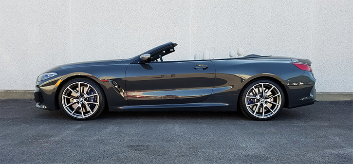 BMW 8-Series Convertible, Top Down