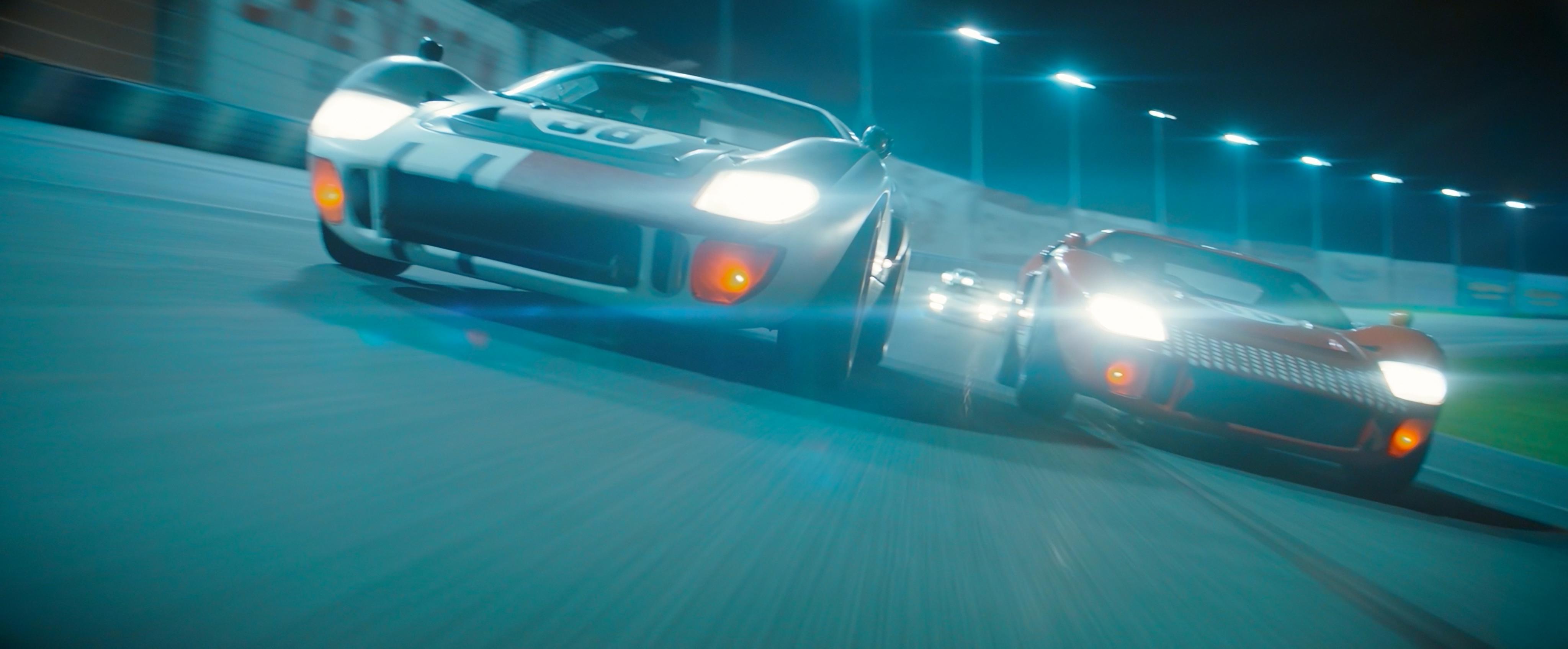 Ford v Ferrari, race scene