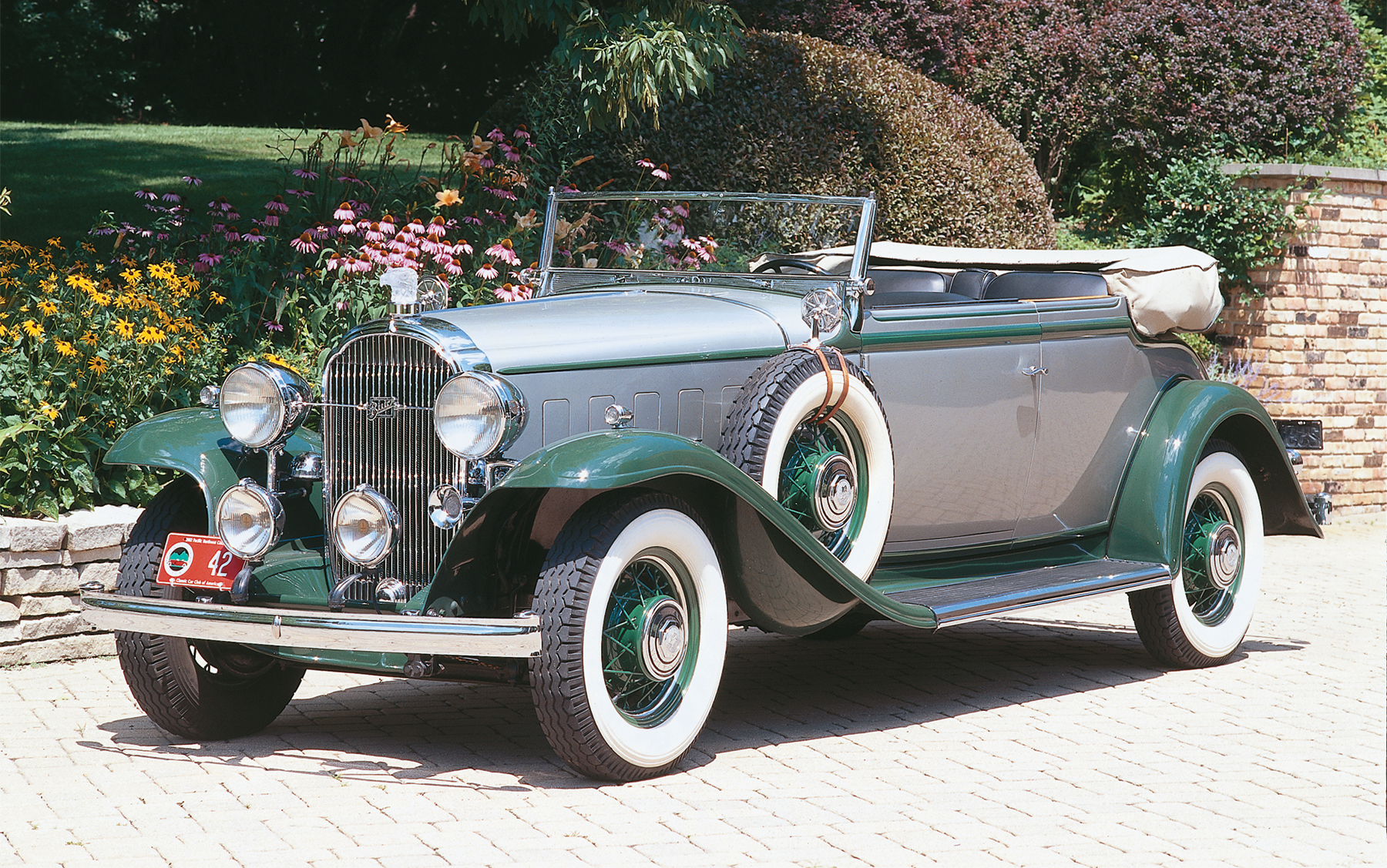 Photo Feature: 1932 Buick Series 90 Convertible Phaeton, Top Down, Green