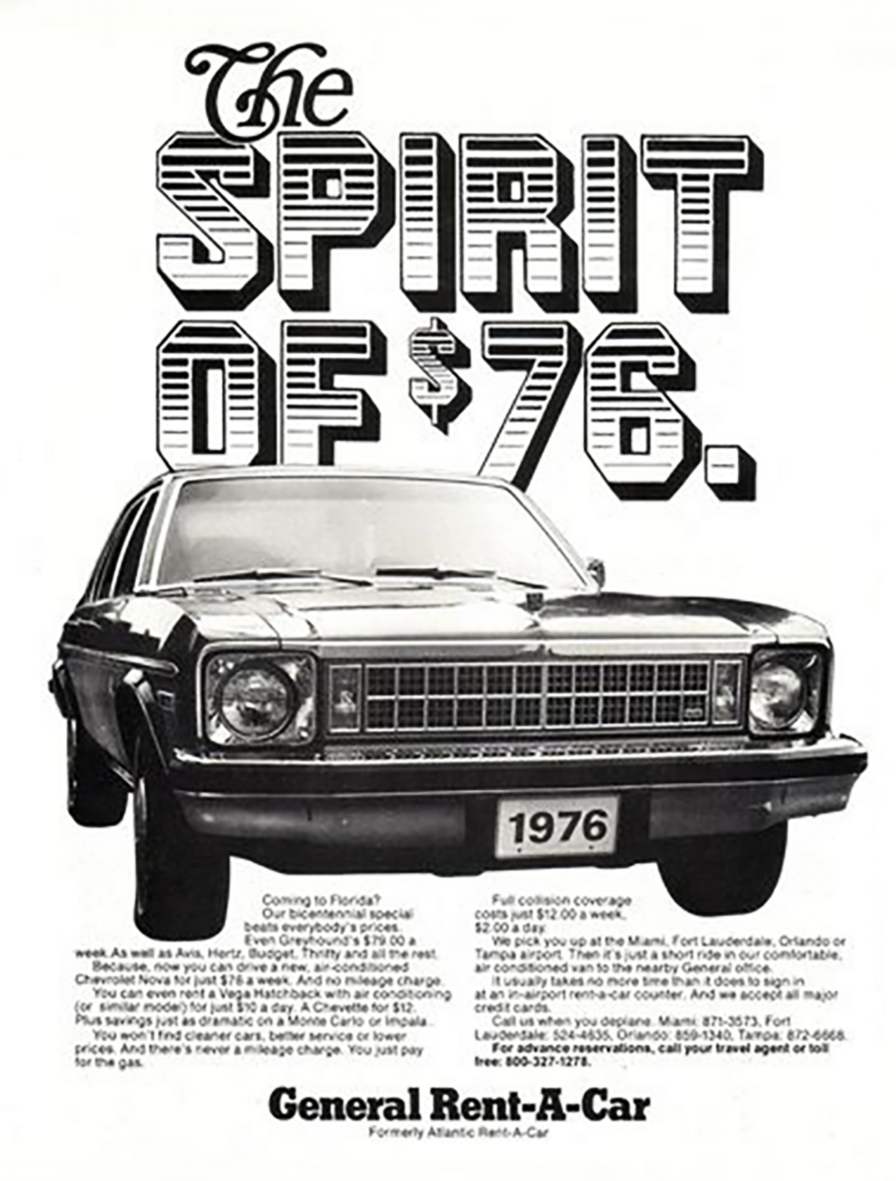 1976 General Car Rental Ad