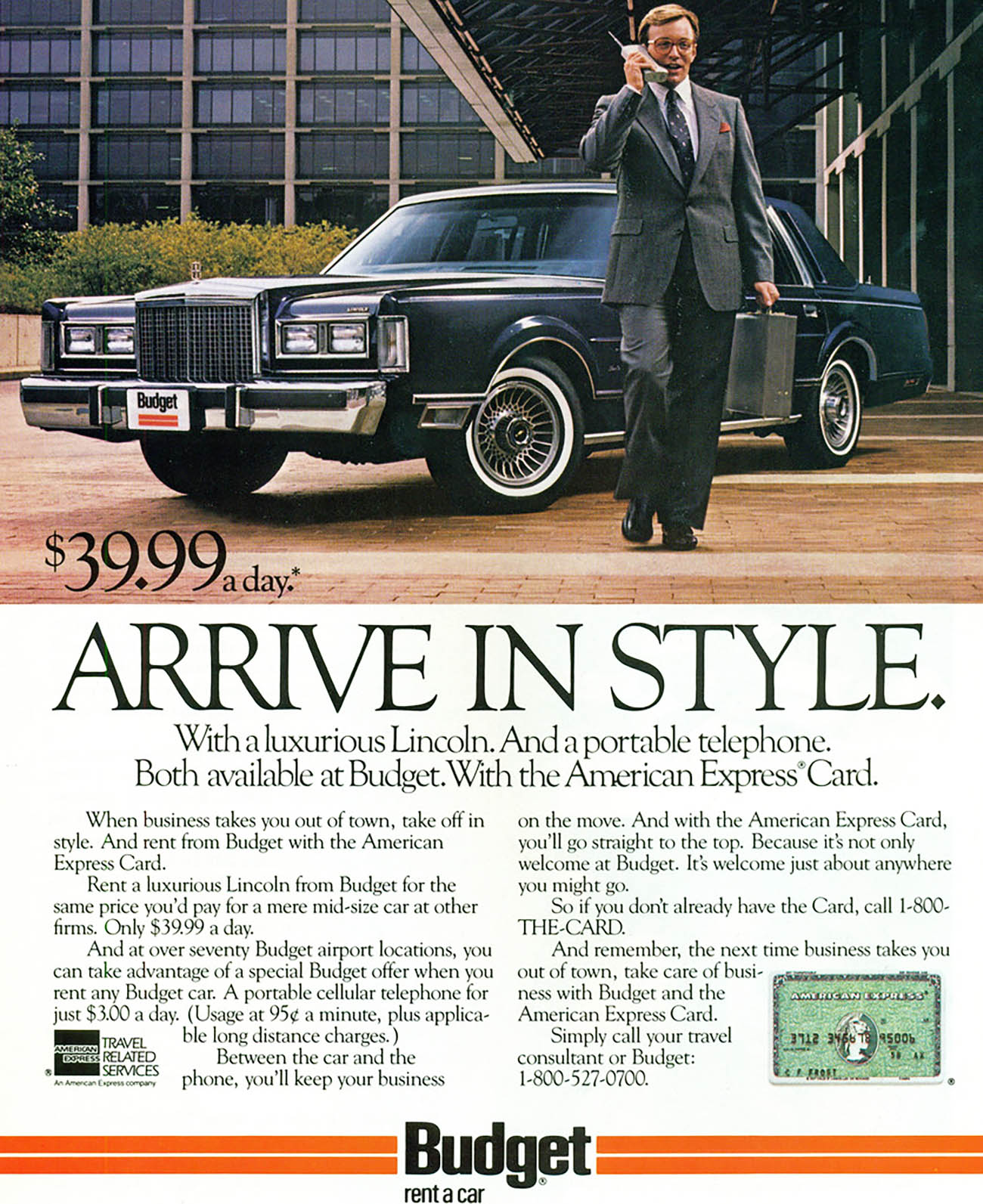 1988 Budget Ad (1988 Lincoln Town Car)
